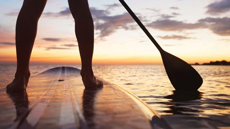Stand up paddle e canoa havaiana